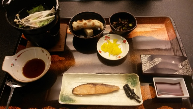 Our first Japanese breakfast