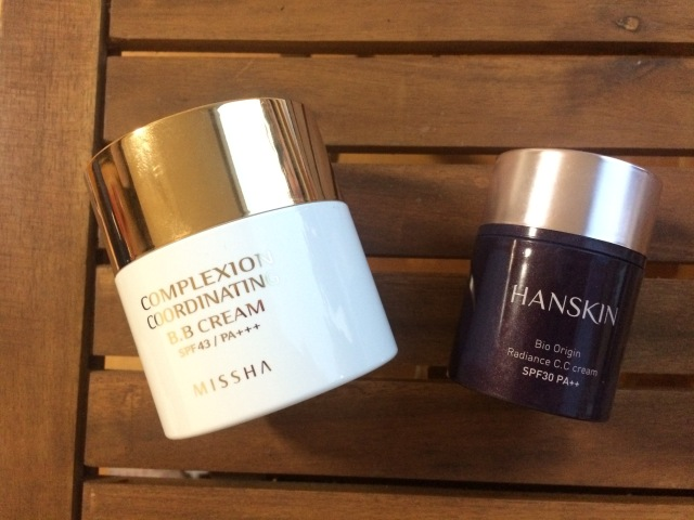 Missha's Complexion Coordinating BB Cream & Hanskin's Bio Origin Radiance CC Cream